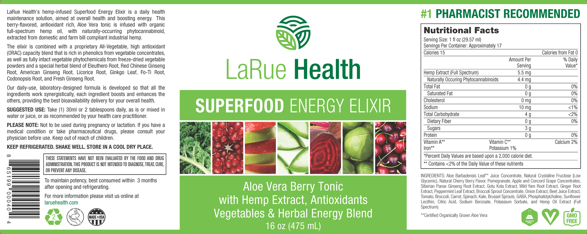 LaRue Health Superfood Energy Elixir