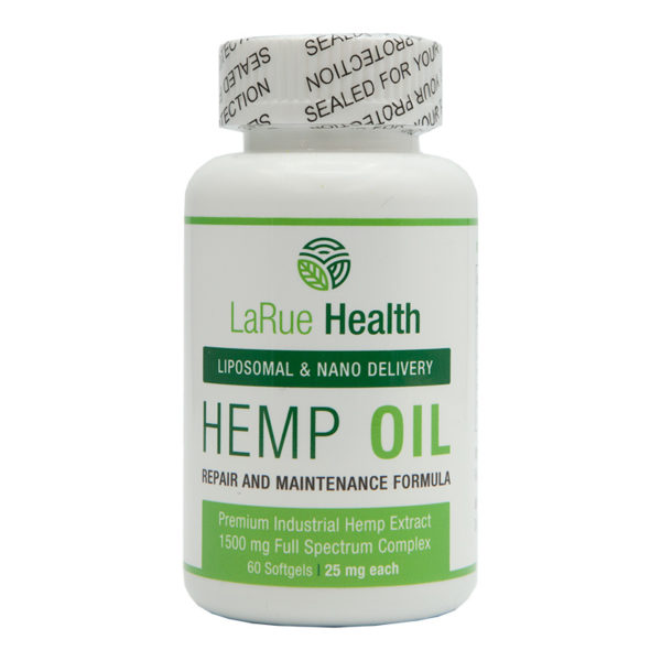 LaRue Health Hemp Oil Softgels 1500mg Front View