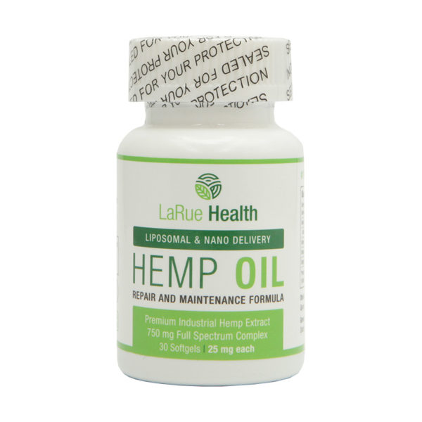 LaRue Health Hemp Oil Softgels 750mg Front View