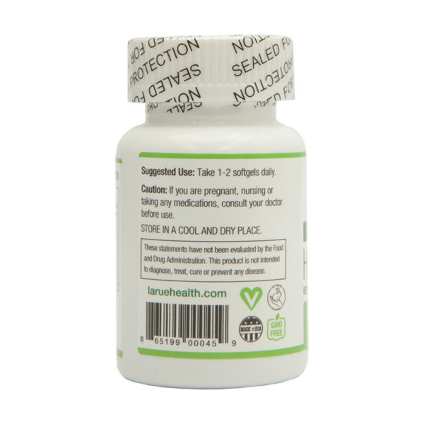 LaRue Health Hemp Oil Softgels 750mg Side View